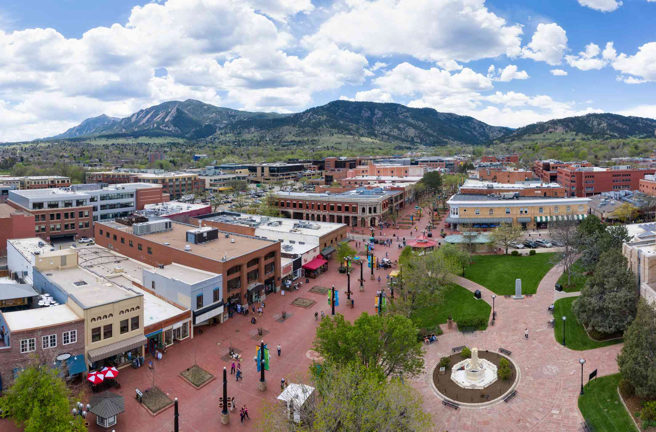 Pearl Street Mall in Boulder, Colorado