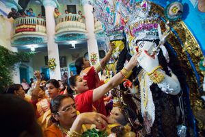 Durga Puja in Kolkata.