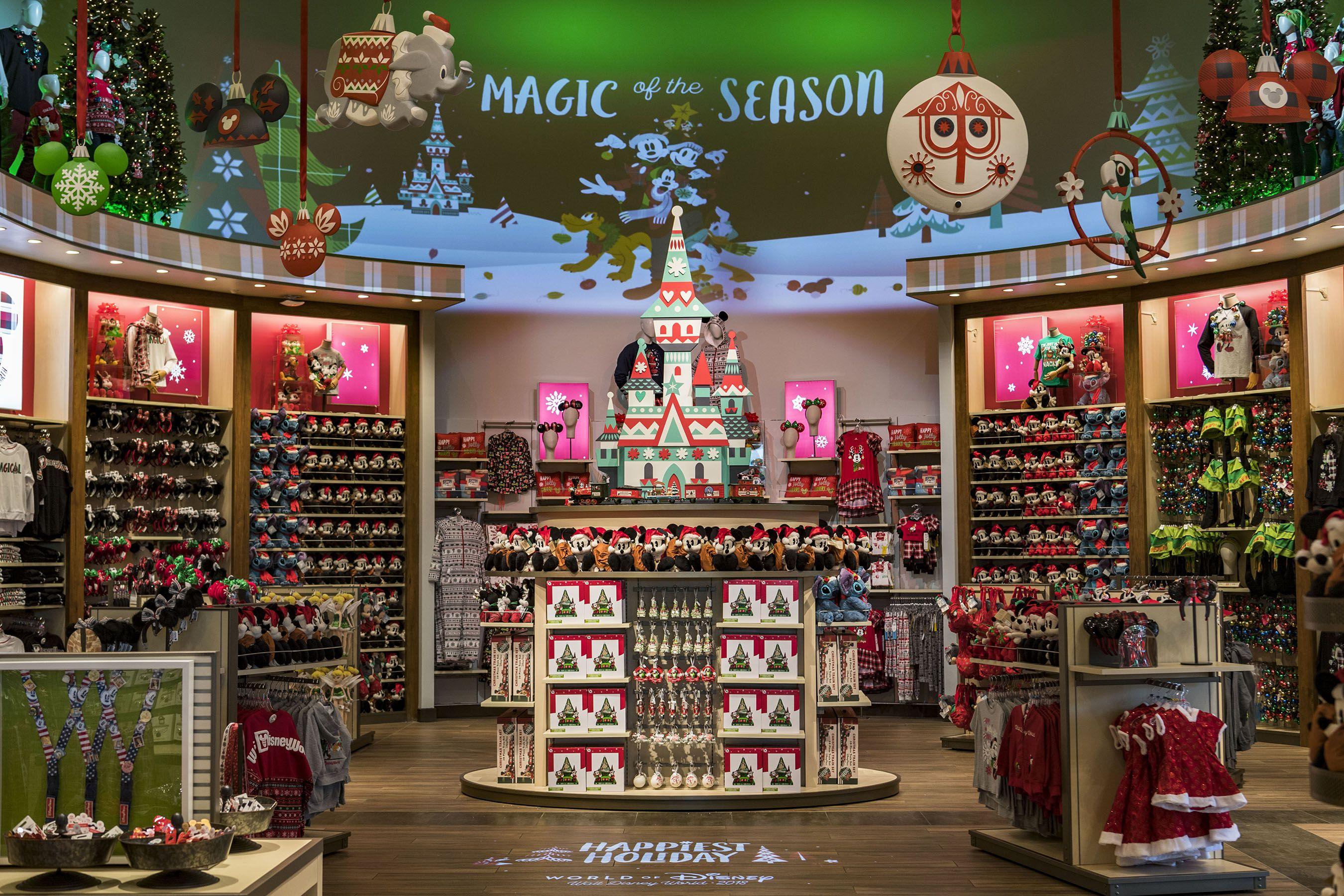 Holiday shopping at Disney World