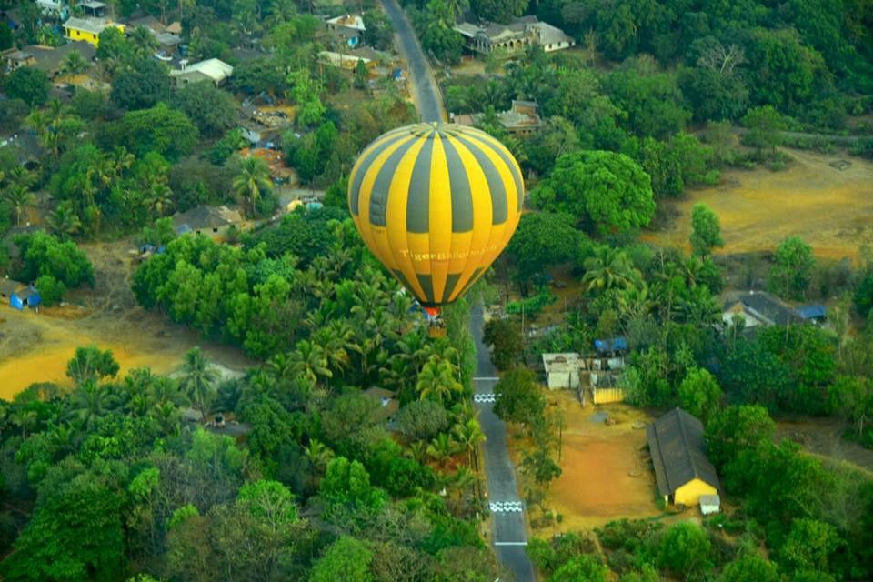 Hot air ballooning in Goa.