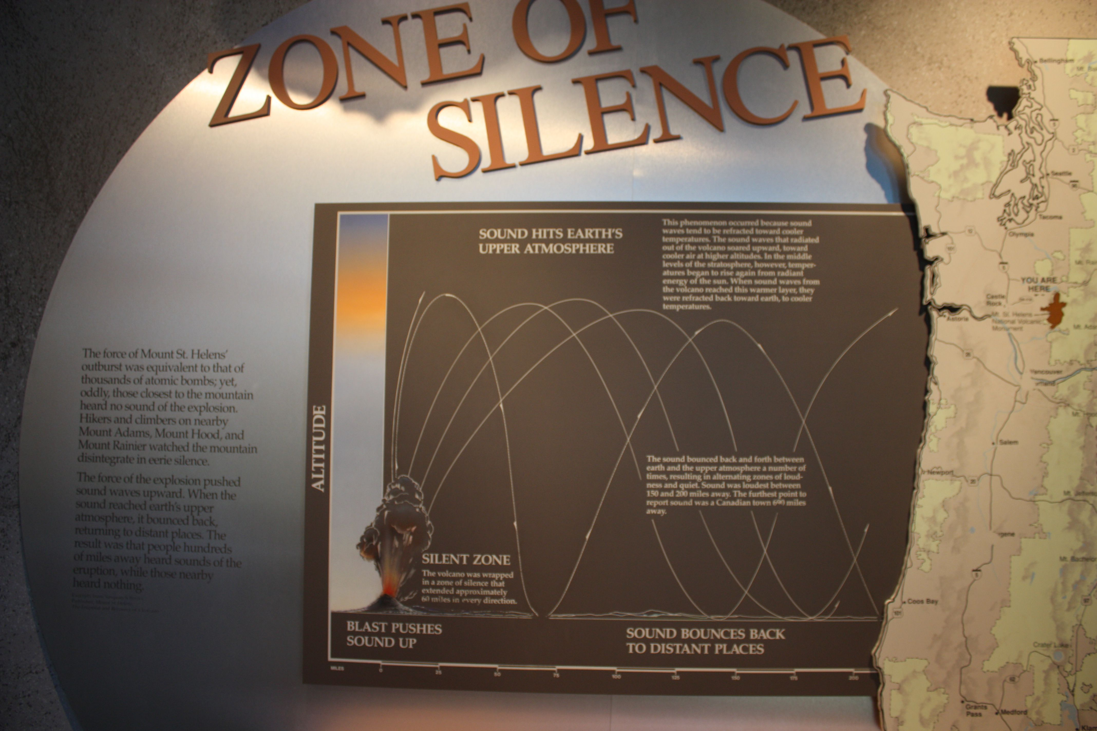 Display at the Forest Learning Center at Mt. Saint Helens.