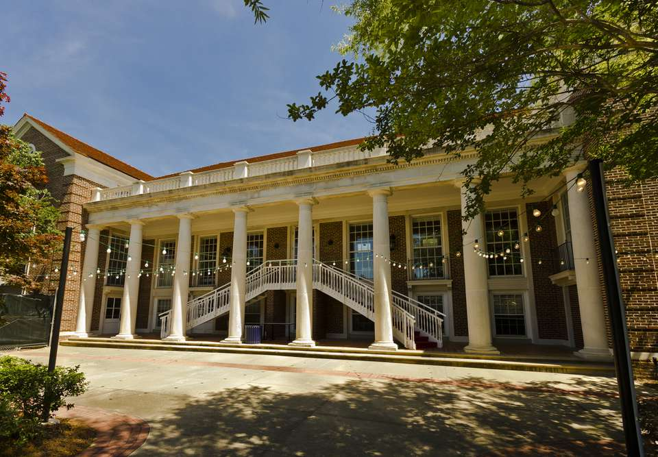 Paul B. Johnson Commons at Ole Miss (the University of Mississippi) in Oxford, Mississippi.