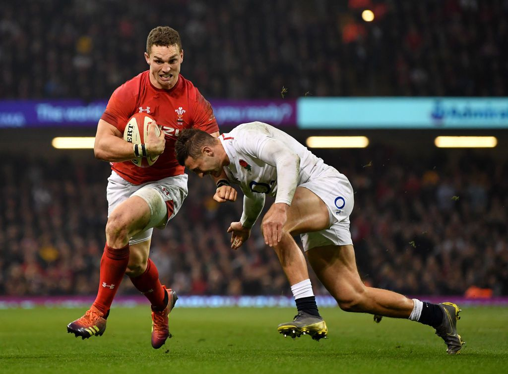 Wales vs England in the Guinness Six Nations Cup. Rugby Union, at Principality Stadium in Cardiff