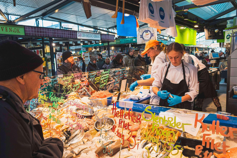 Food stall at Torvehallerne Market