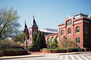 Facade of Smithsonian Institution, Smithsonian Castle, Washington DC, USA