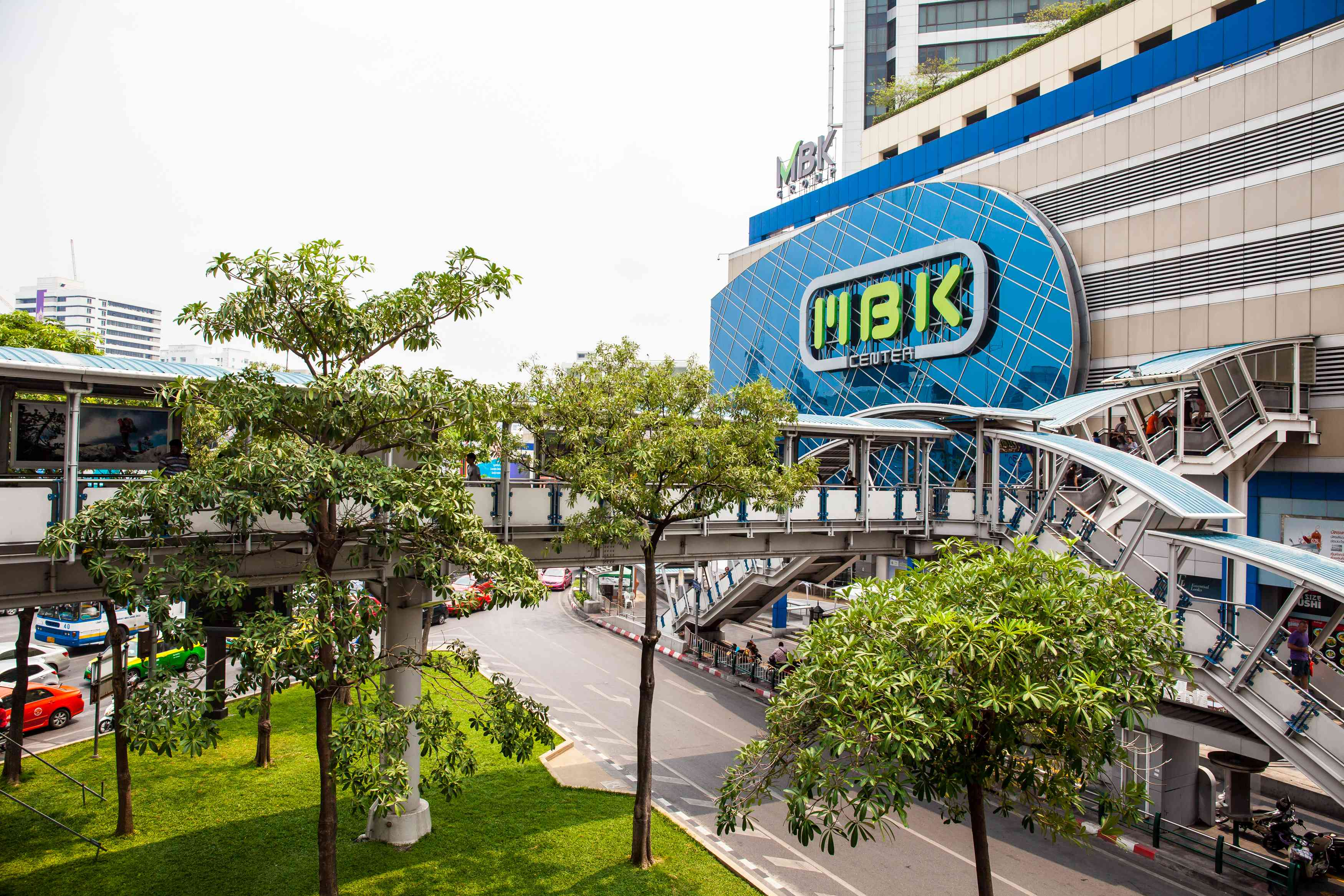 Outside of MBK Center, a budget place to shop in Bangkok