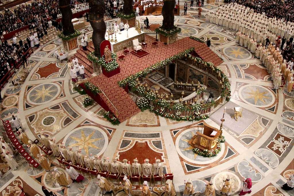 Holy Saturday Mass at Saint Peter's Basilica