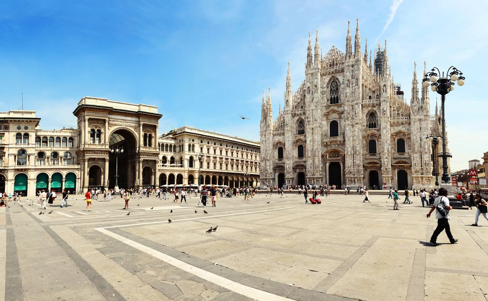 Cathedral of Milan and Galleria Vittorio Emanuele II in Milan, Italy