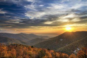 Shenandoah National Park Sunset