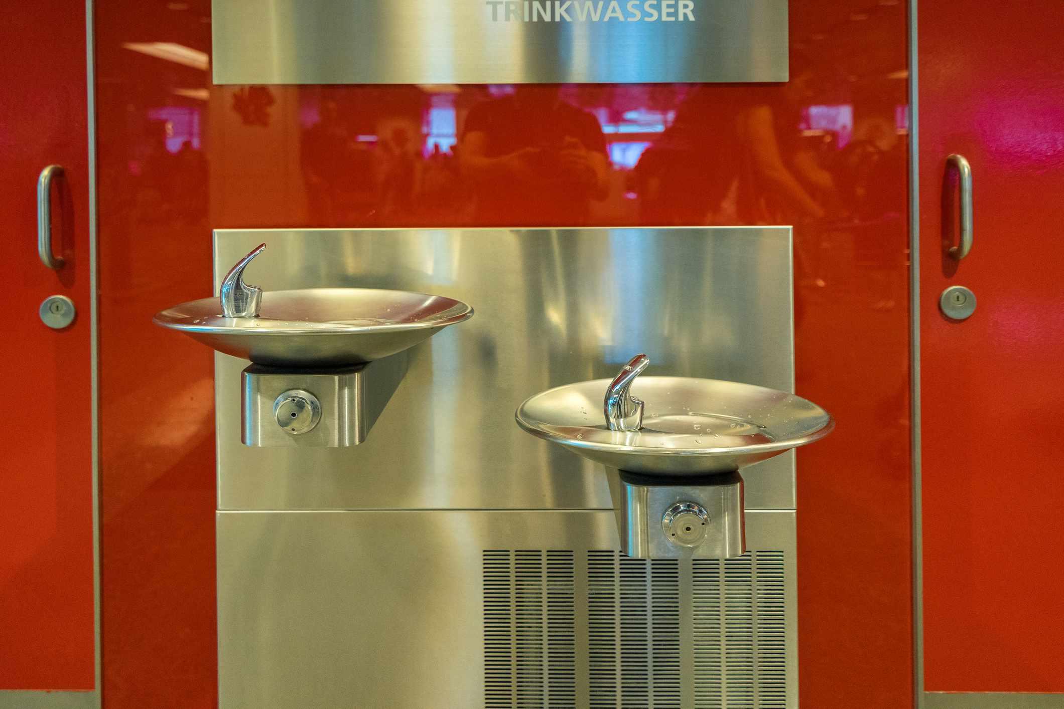 Water fountain at Changi Airport, Singapore