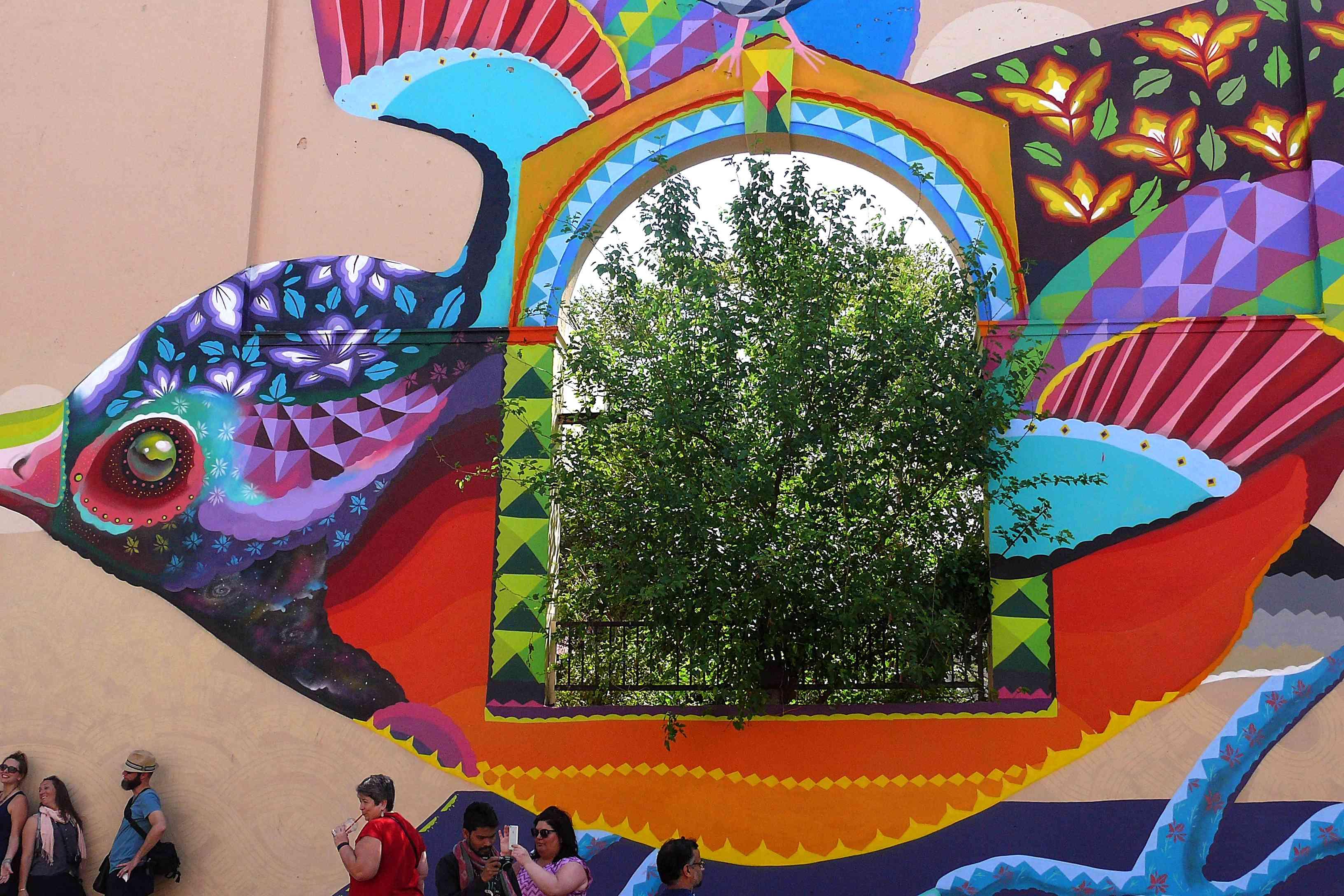 Street Art Walking Tour, Shahpur Jat