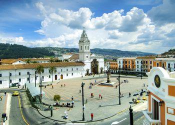 Quito, Ecuador, Santo Domingo Plaza And Church