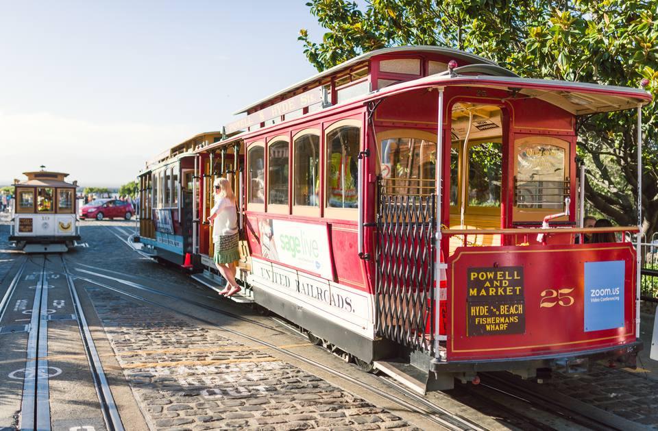 Cable Car Near Ghirardelli Square
