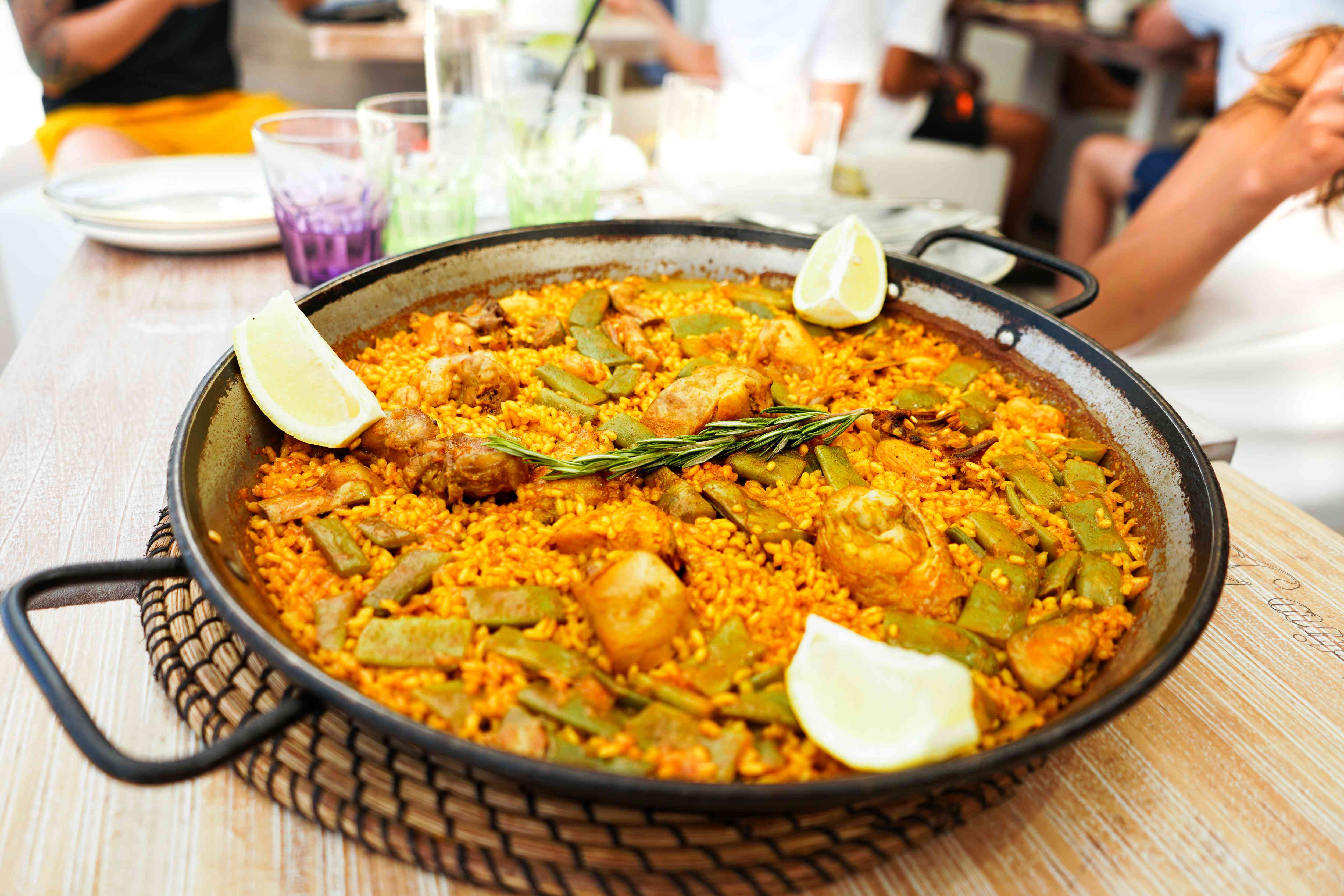 A full plate of Paella