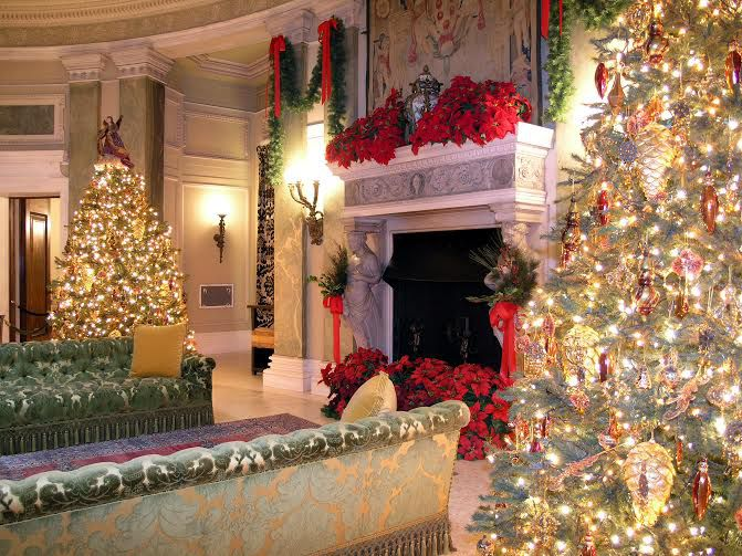 hudson valley mansions christmas holiday tours events - Mansion Christmas Decorations
