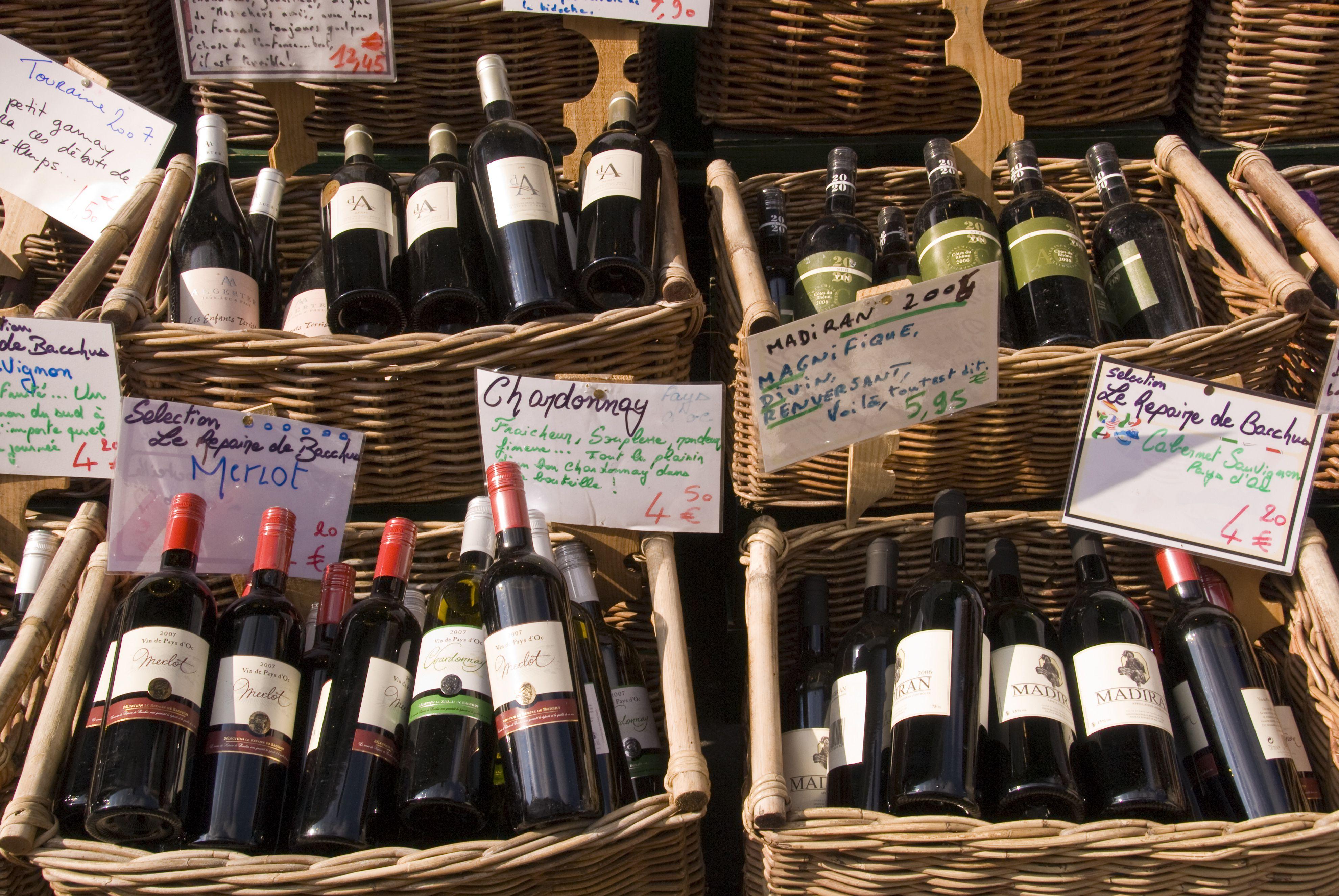 Wine shop in Paris.