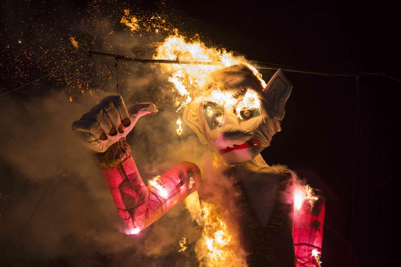 Burning of the Zozobra in Santa Fe, New Mexico