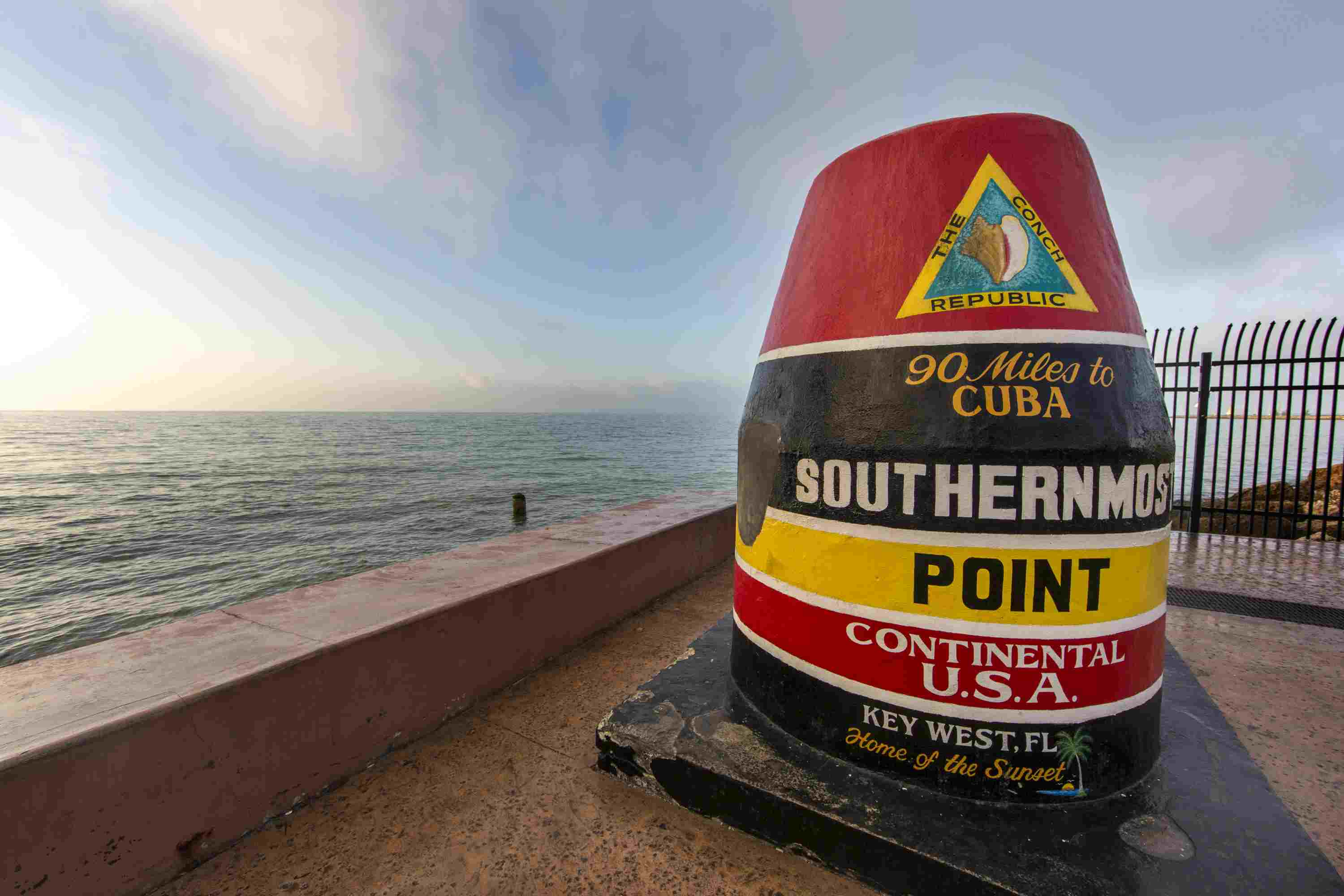 Buoy marking Key West as the southernmost point in the USA