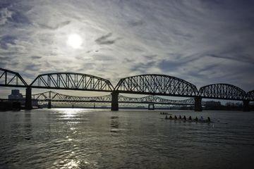 The bridge over the Ohio river.