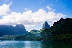 The mountains of Moorea