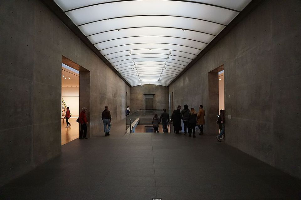 The interior of the Modern Art Museum of Fort Worth in Fort Worth, Texas (United States).
