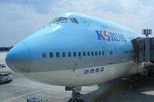 A Korean Air Boeing 747