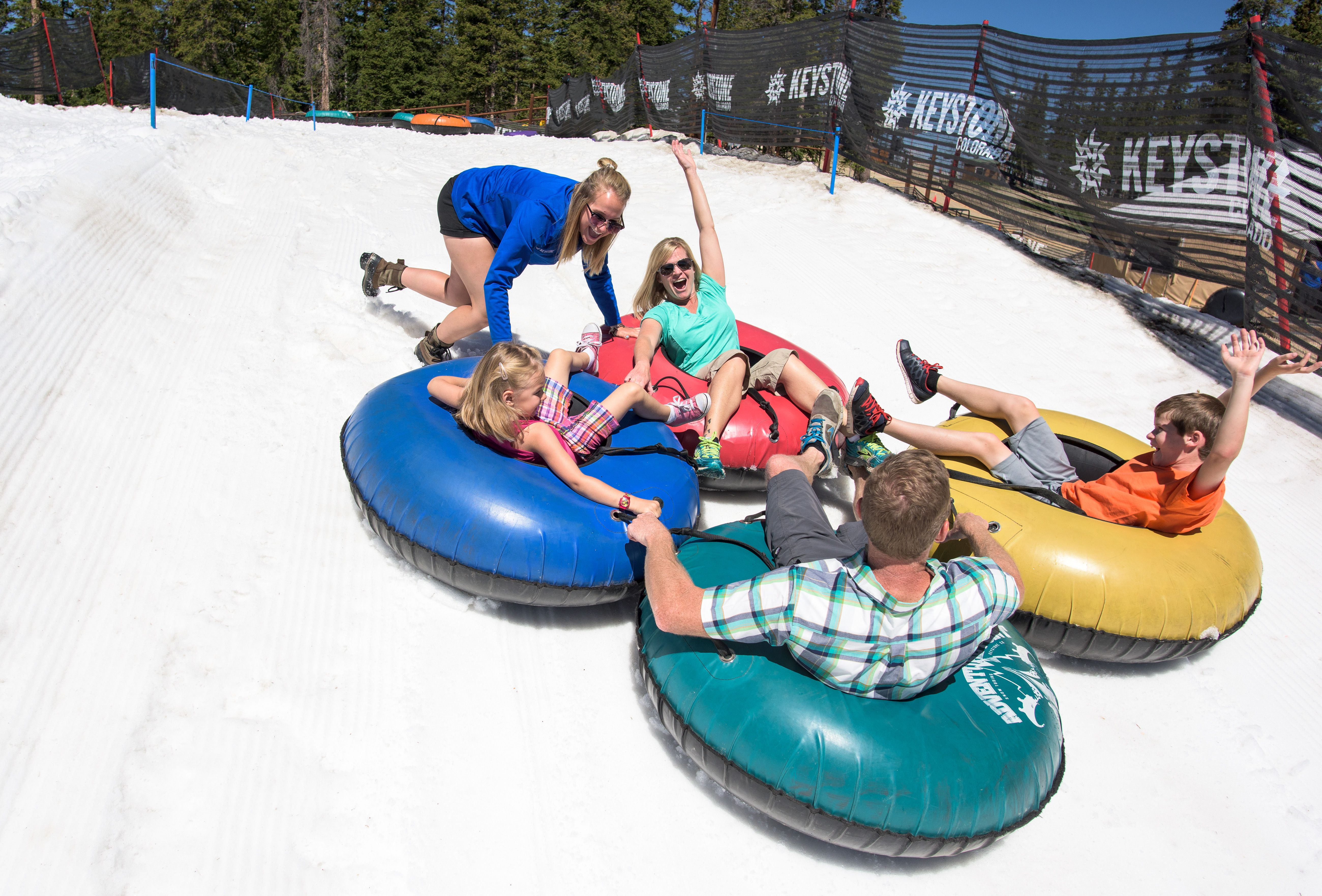 Snow tubing in the summer