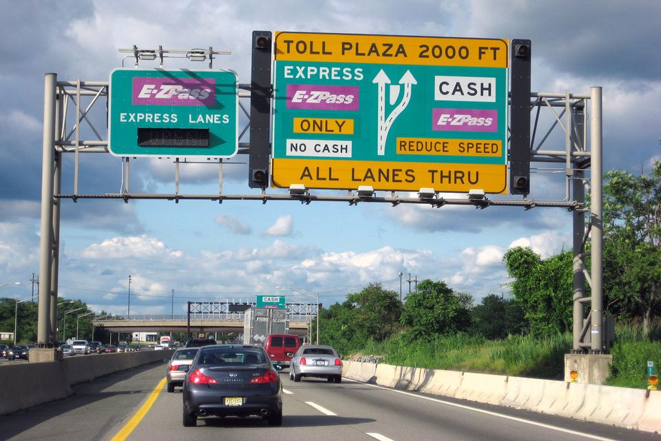 EZ Pass sign