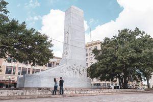 Cenotaph memorial of the Alamo defenders at the Alamo