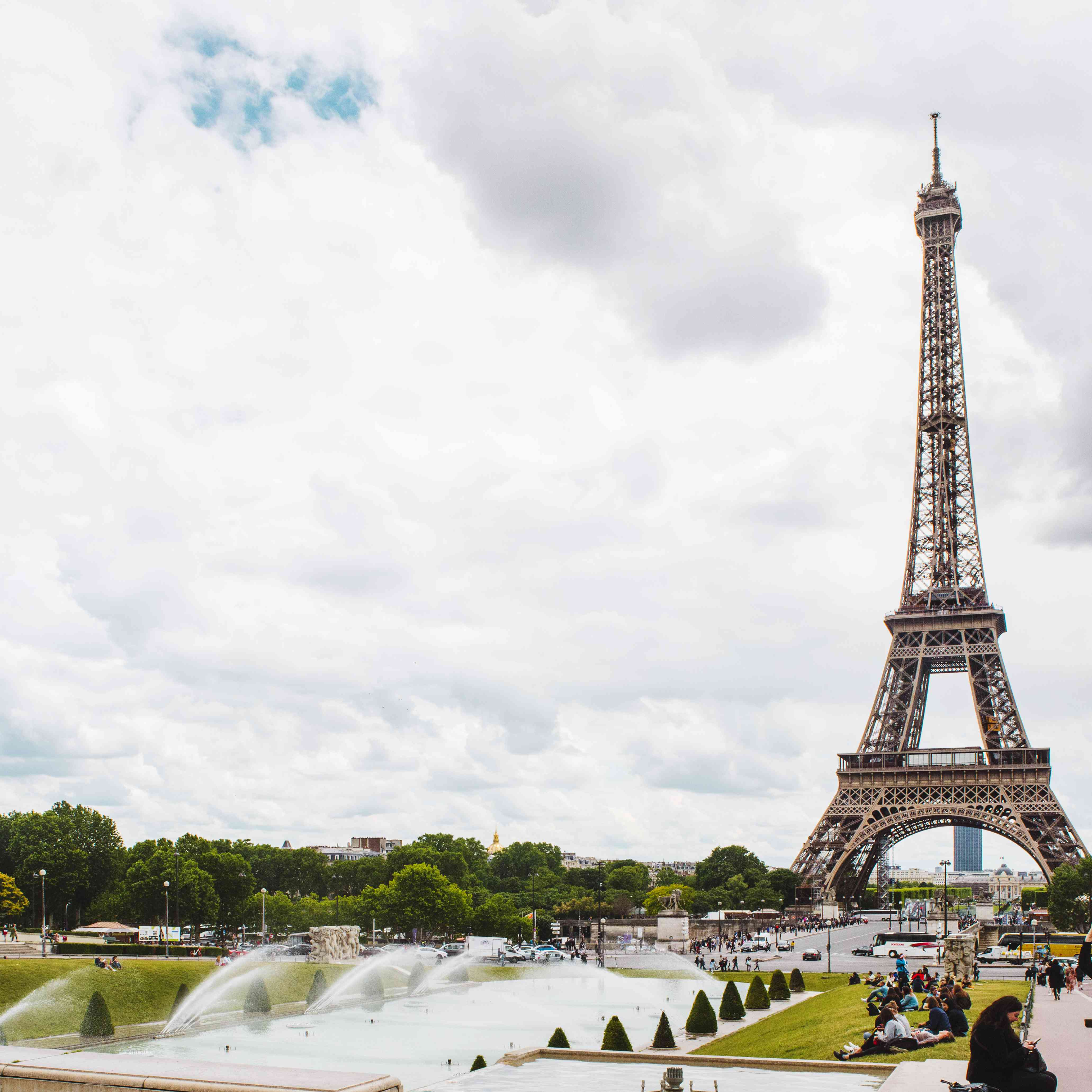 View of the Eiffel Tower from Trocadero Square