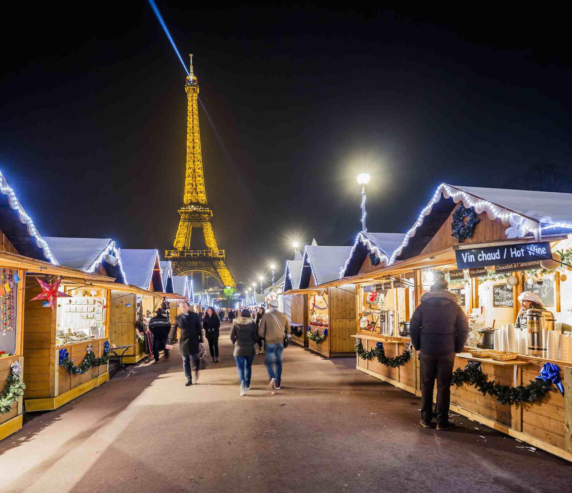 El pueblo navideño en el Trocadéro