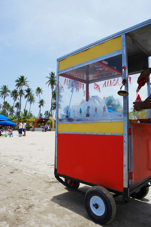 Ice cream stand on the beach, Luquillo Beach, Puerto Rico.