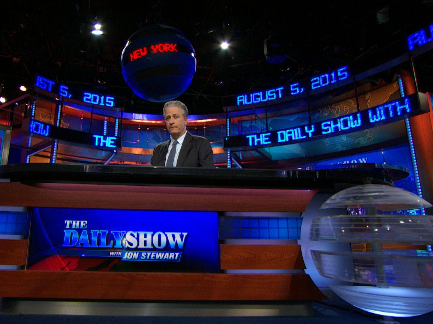 The Daily Show con Jon Stewart ambientado en The Newseum