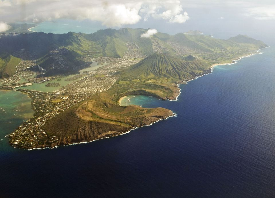 Aerial View of Oahu's Southeast Shore