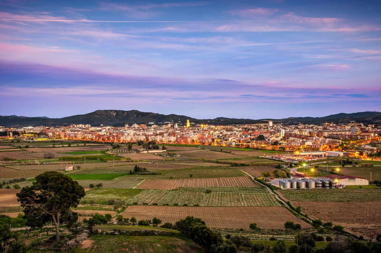 View of Vilafranca del Penedes, Spain