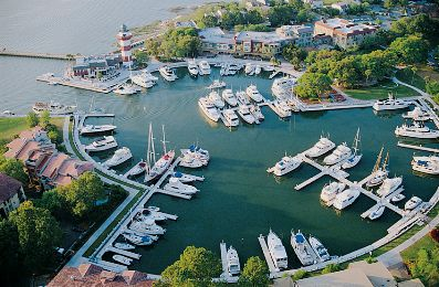 Aerial View of Harbour Town at the Sea Pines Resort