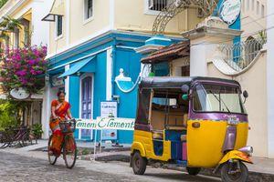 Pondicherry street scene.