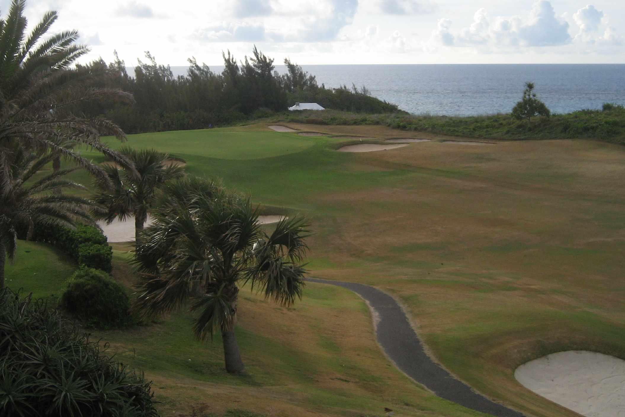 Golf course at Mid Ocean Club in Bermuda.