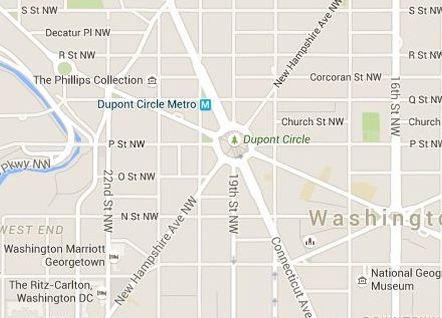 Dupont circle map washington dc maps transportation and parking near dupont circle publicscrutiny Image collections