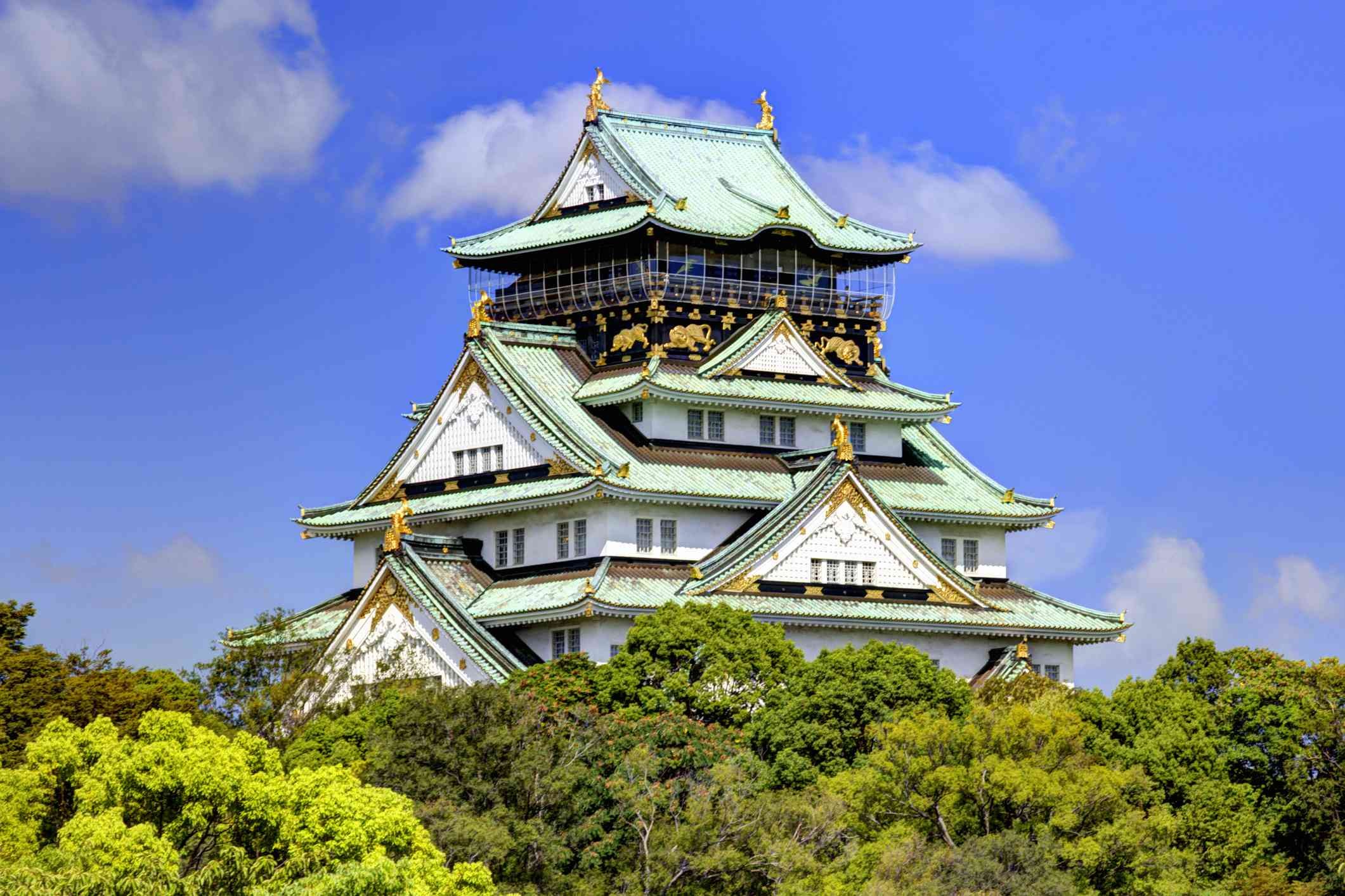 View of the Osaka Castle, Osaka