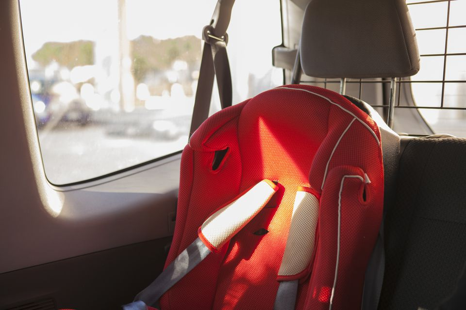 A child restraint seat in a car
