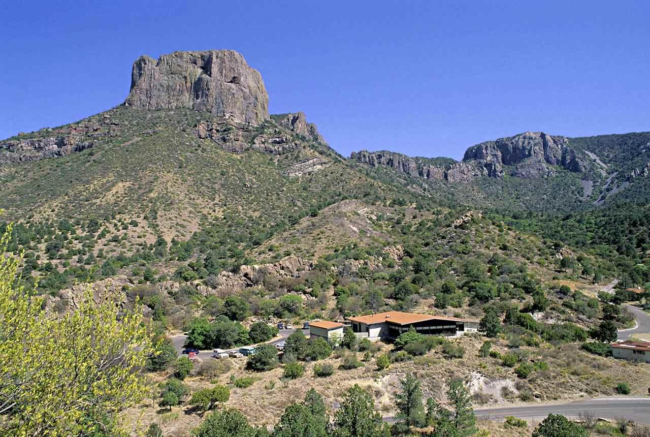 Casa Grande (7325 ft) behind Chico Mountains Basin Lodge, Big Bend National Park, Texas, USA
