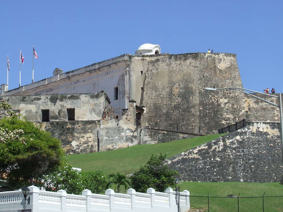 Fortress Wall en el Castillo San Cristóbal en San Juan, Puerto Rico