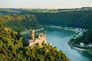 Upper Middle Rhine Valley, with Castle Katz