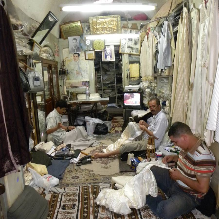 Tailors in a Souk in the Medina of Tunis