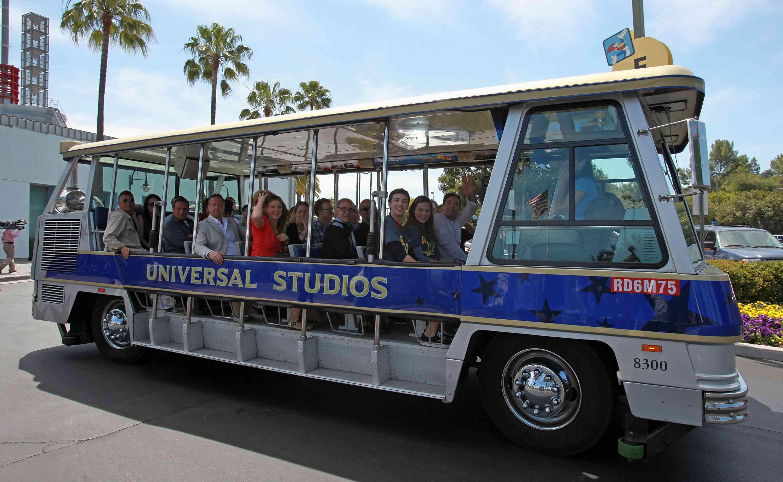 tram tour of the Universal Studios backlot