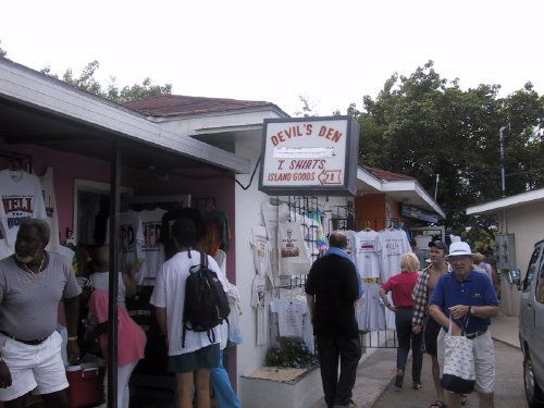 Shopping in Hell on Grand Cayman Island