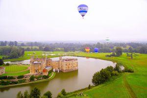 Leeds Castle During Balloon Festival