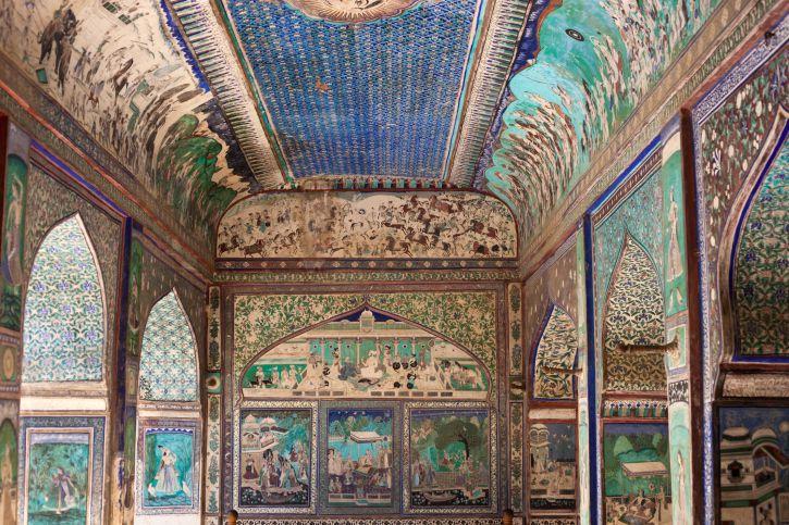 Painting inside Bundi Palace.