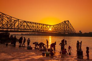 Kolkata sunset.